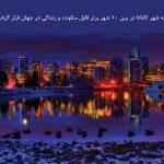 سه شهر کانادا در بین ۱۰ شهر برتر قابل سکونت و زندگی در جهان قرار گرفتند